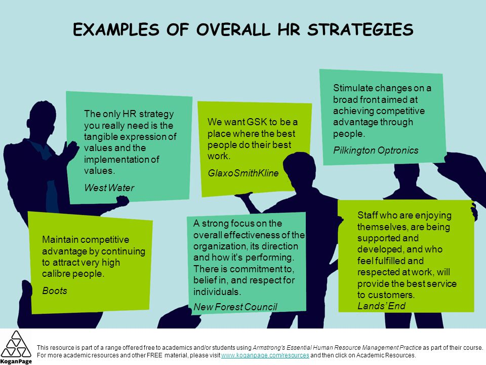 strategic human resource management Need basic information about human resources' strategic planning and management as a function or department within an organization what are the appropriate goals, organization, and initiatives for a human resources department to pursue.