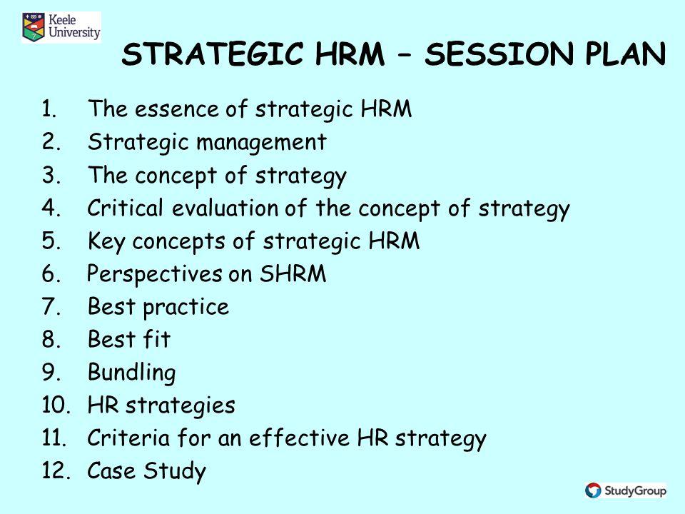 strategic human resource management ppt video online download2 strategic hrm \u2013 session plan
