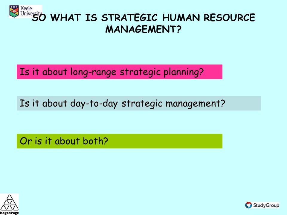 strategic human resource management ppt video online downloadso what is strategic human resource management