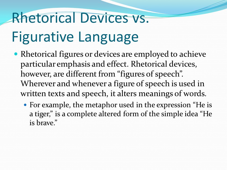 what are examples of rhetorical strategies