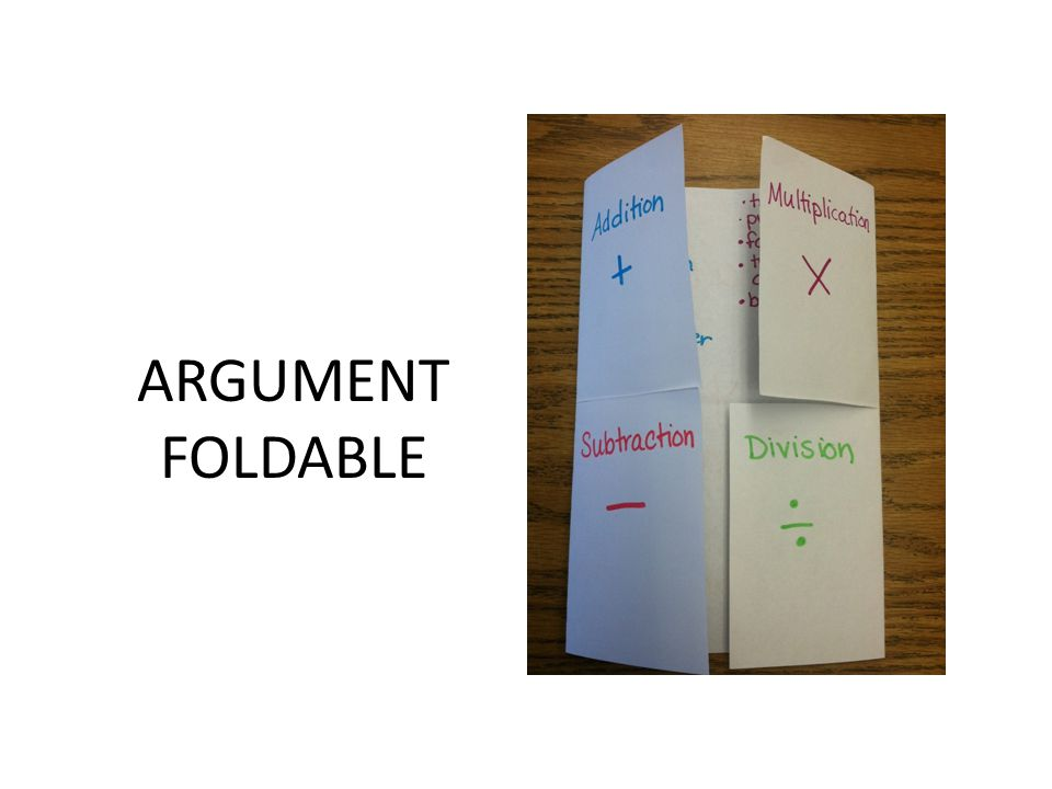 ARGUMENT FOLDABLE