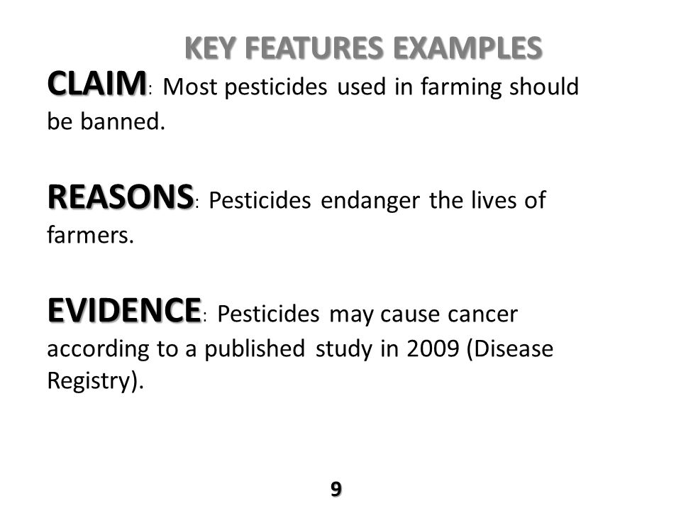 CLAIM: Most pesticides used in farming should be banned.