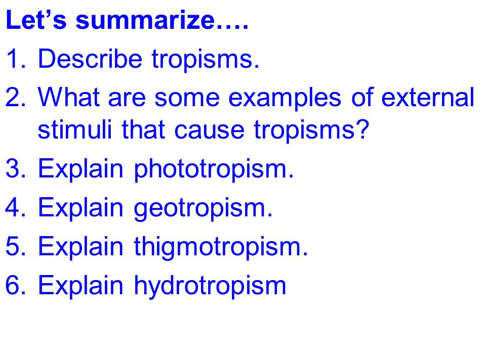Topic Plants Aim Describe The Role Of Tropisms In Plants Ppt