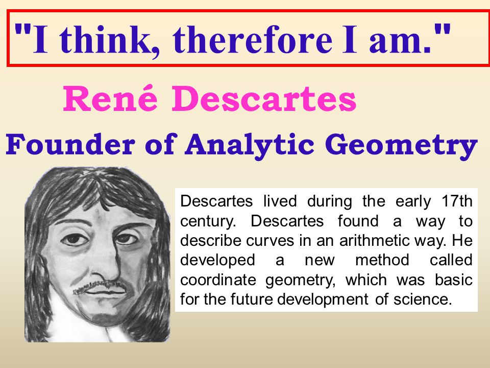 important facts about rene descartes