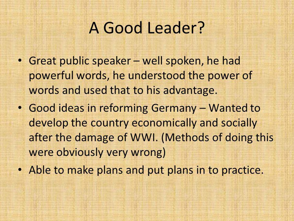 words to describe a good leader