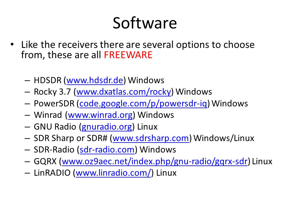 SDR – Software Defined Radio - ppt download
