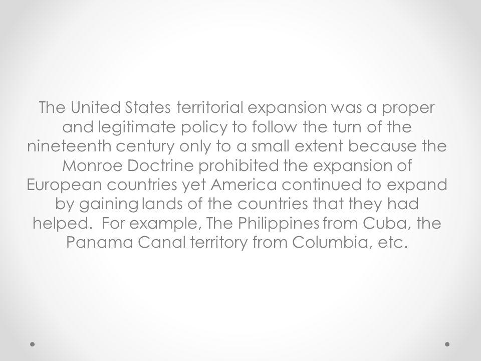 example of monroe doctrine