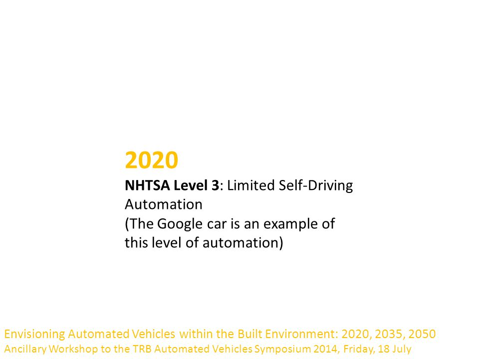AUTOMOBILES Dimitris Milakis, Transport Institute, Delft University of  Technology Envisioning Automated Vehicles within the Built Environment:  2020, 2035,