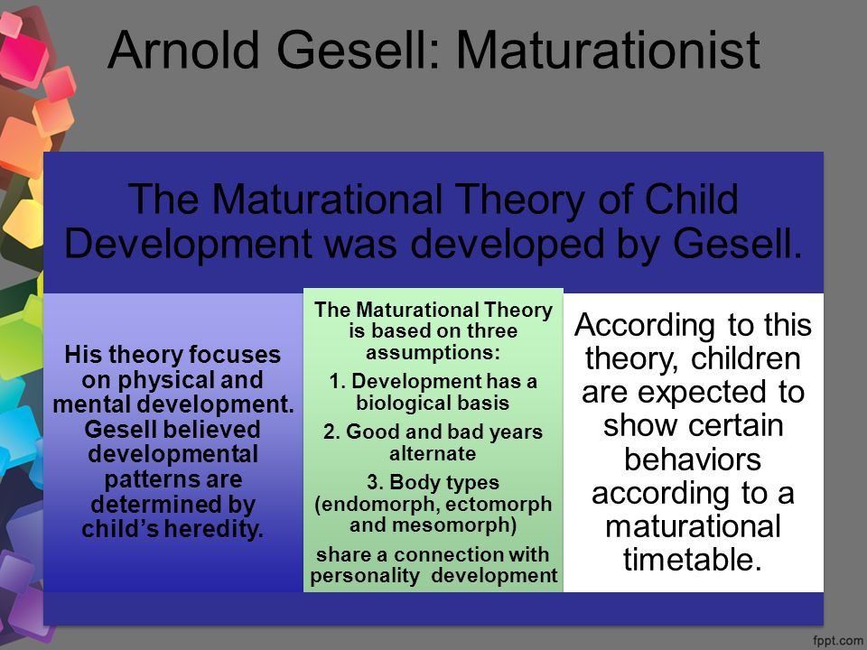 Arnold gesell maturational theory