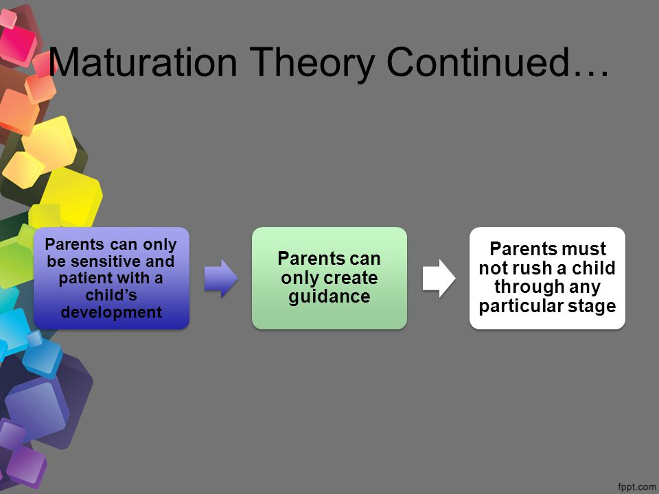 Gesells maturational theory