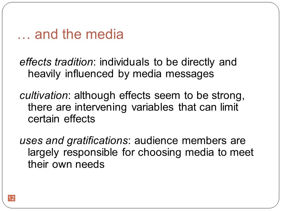 media effects tradition