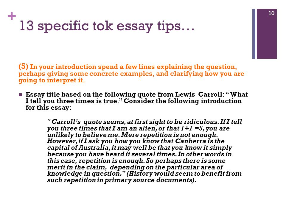 Good Essay Topics For High School  Specific Tok Essay Tips Essays On English Literature also Reflective Essay Thesis Tok Essay  Essential Guidelines  Ppt Video Online Download Essay Topics For Research Paper