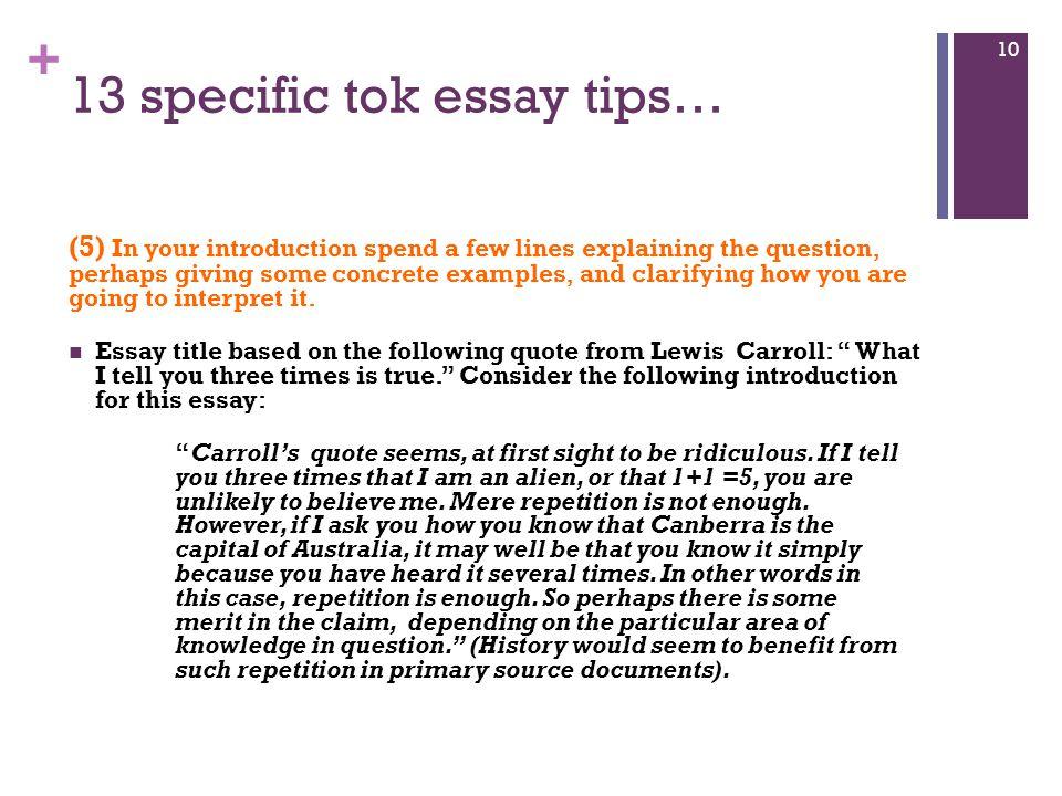 Tok essay help 2015