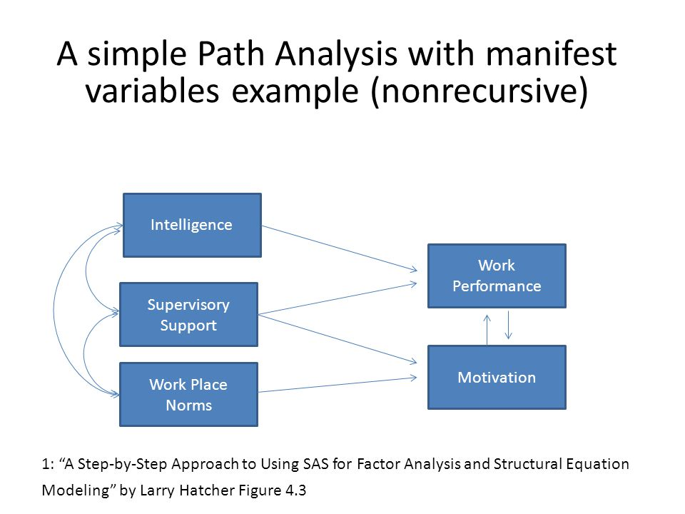 Path analysis with manifest variables ppt video online download a simple path analysis with manifest variables example nonrecursive ccuart Images