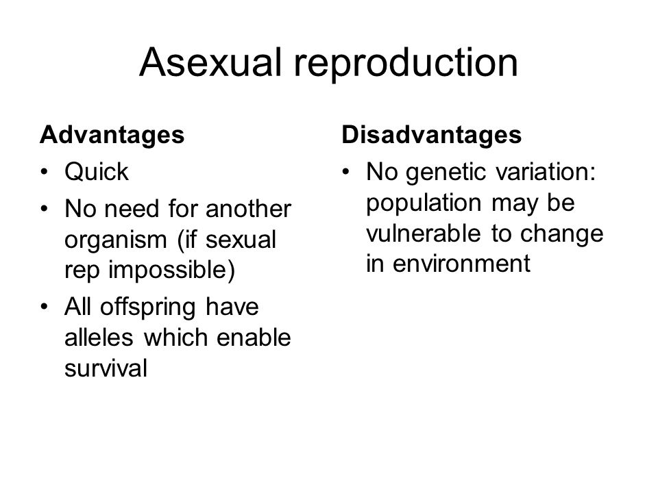 Advantages and disadvantages of asexual reproduction wikipedia
