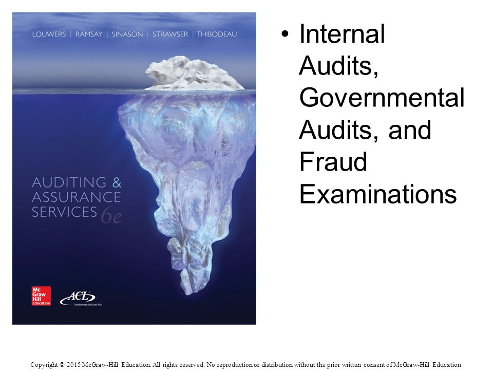 Internal Audits, Governmental Audits, and Fraud Examinations