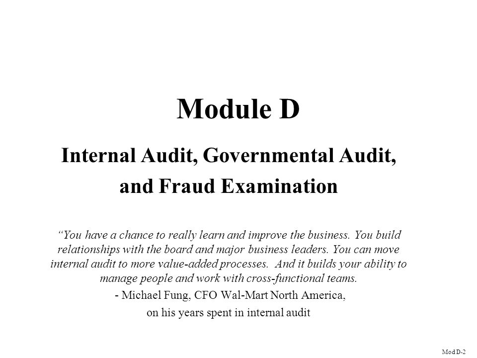 Internal Audit, Governmental Audit,