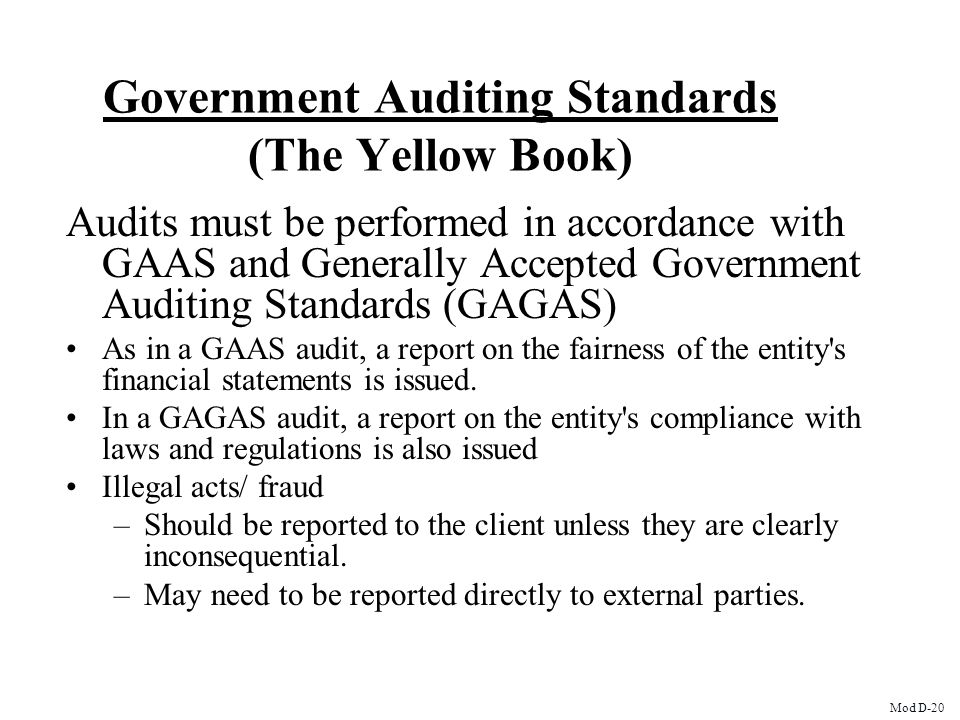 Government Auditing Standards (The Yellow Book)