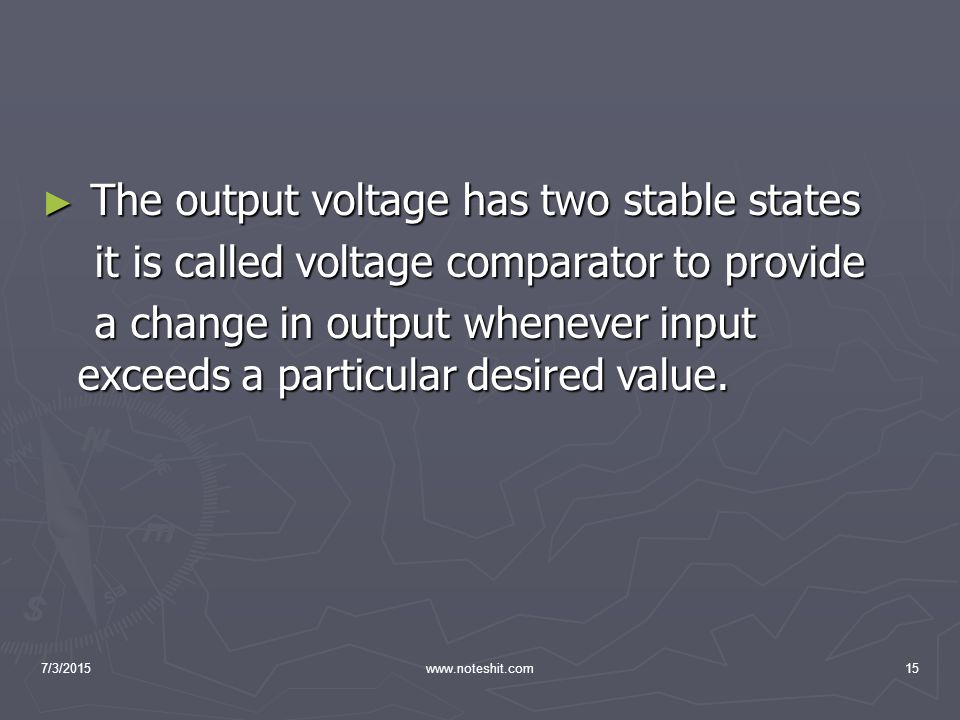 The output voltage has two stable states