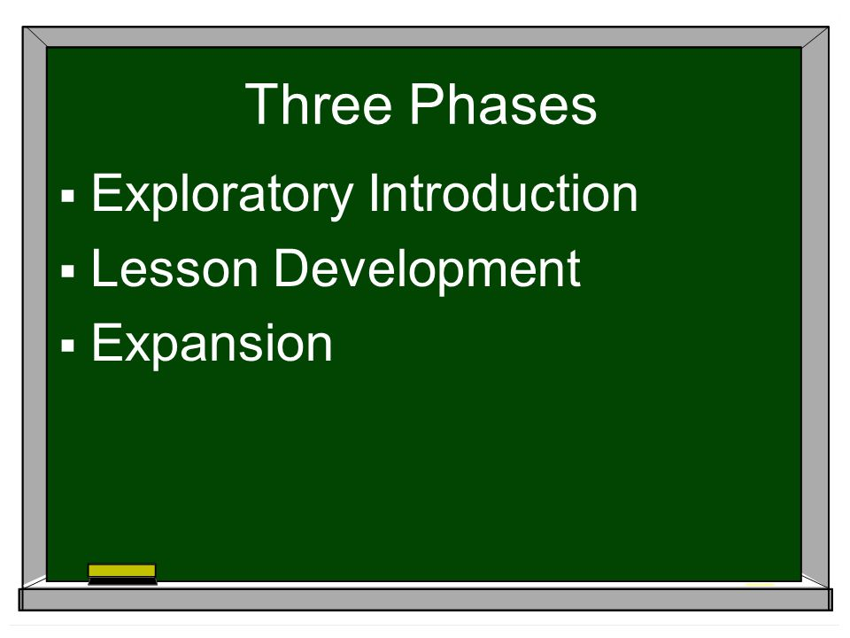 Three Phases Exploratory Introduction Lesson Development Expansion
