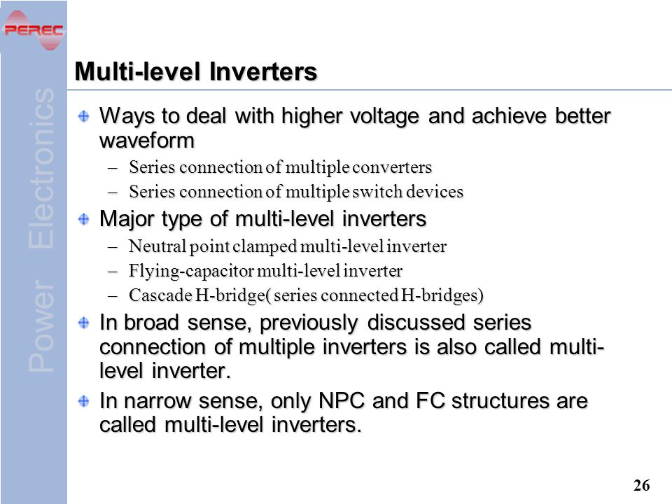 Chapter 4 DC to AC Converters ( Inverters ) - ppt video