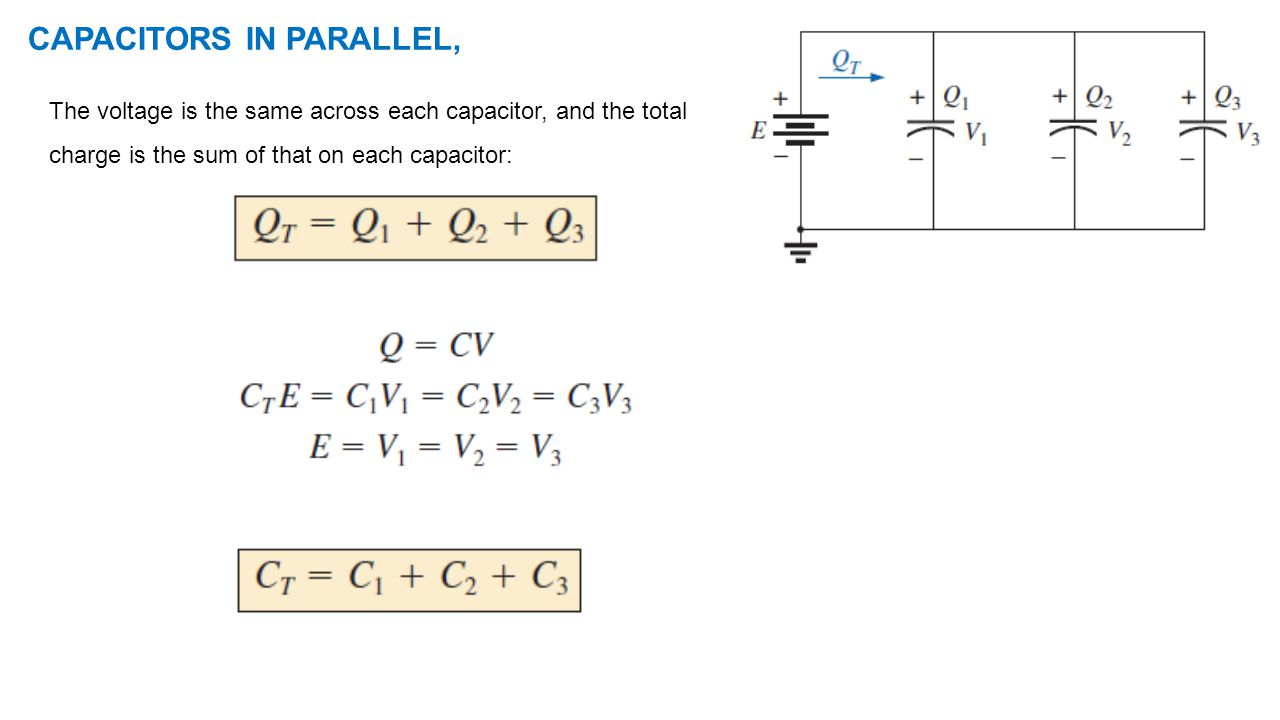 CAPACITORS IN PARALLEL,