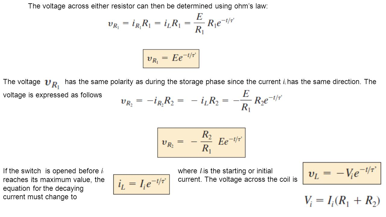 The voltage across either resistor can then be determined using ohm's law:
