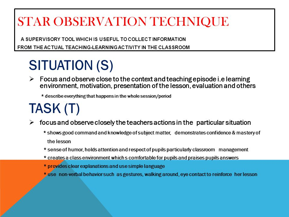 appropriate observation technique Observation and assessment processes can also be used to identify the effec- tiveness of the setting, specific areas of the setting, specific activities and the practitioner.
