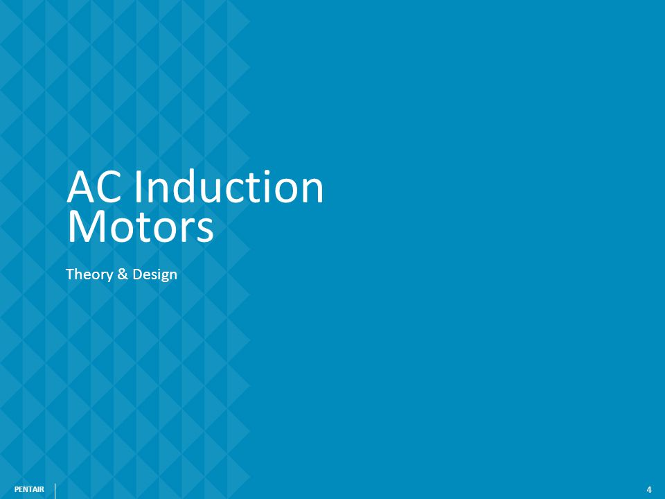 4 AC Induction Motors Theory & Design PENTAIR 4