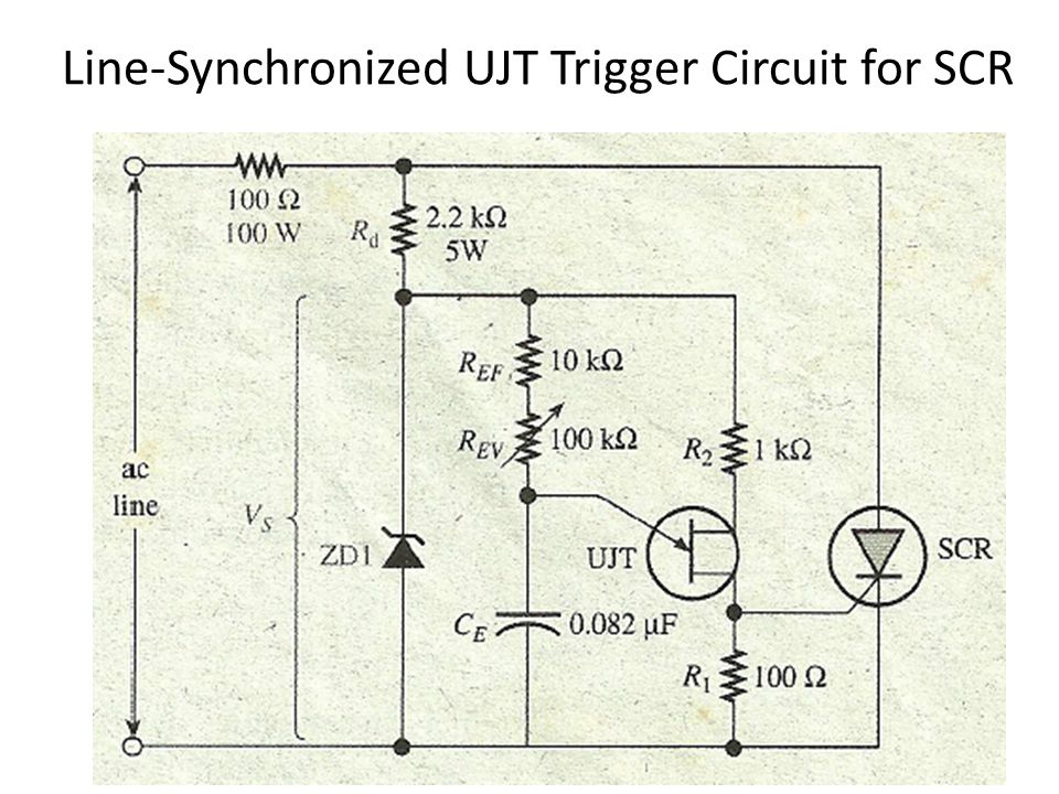 power electronics lecture 7 unijunction transistor \u0026 ppt video26 line synchronized ujt trigger circuit for scr