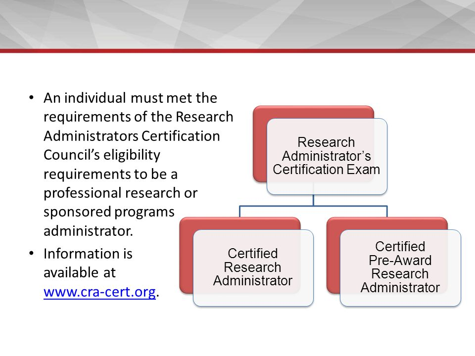 Establishing an Office of Research and Sponsored Programs - ppt download