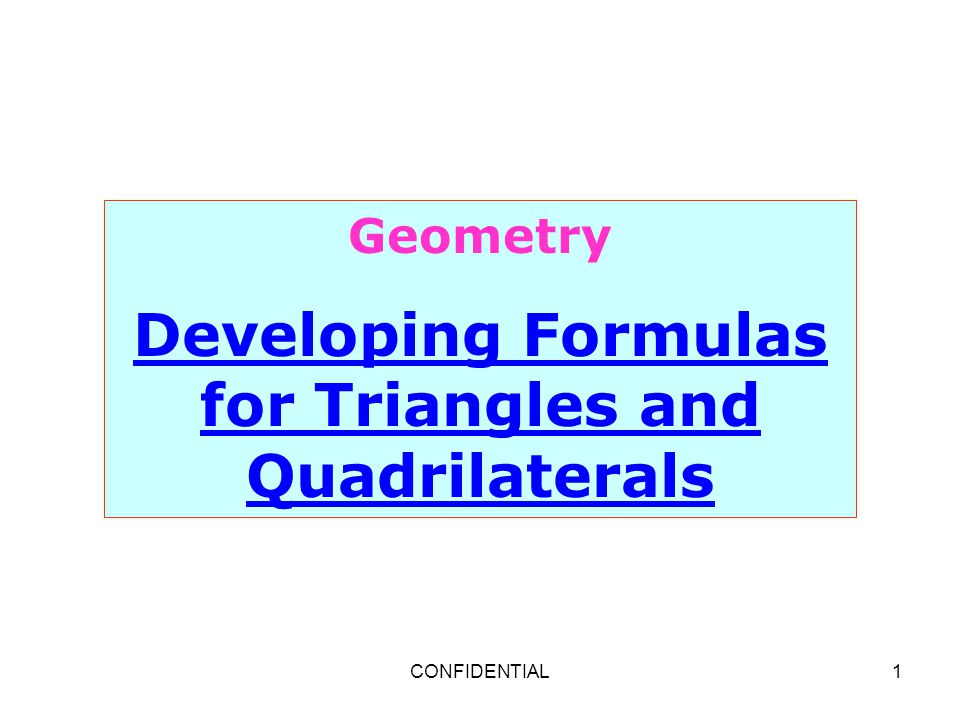lesson 10.1 problem solving developing formulas for triangles and quadrilaterals