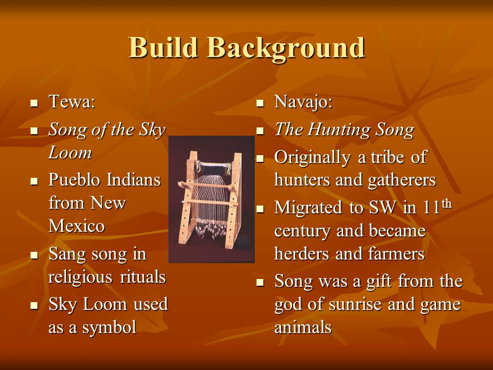 Build Background Tewa Song Of The Sky Loom