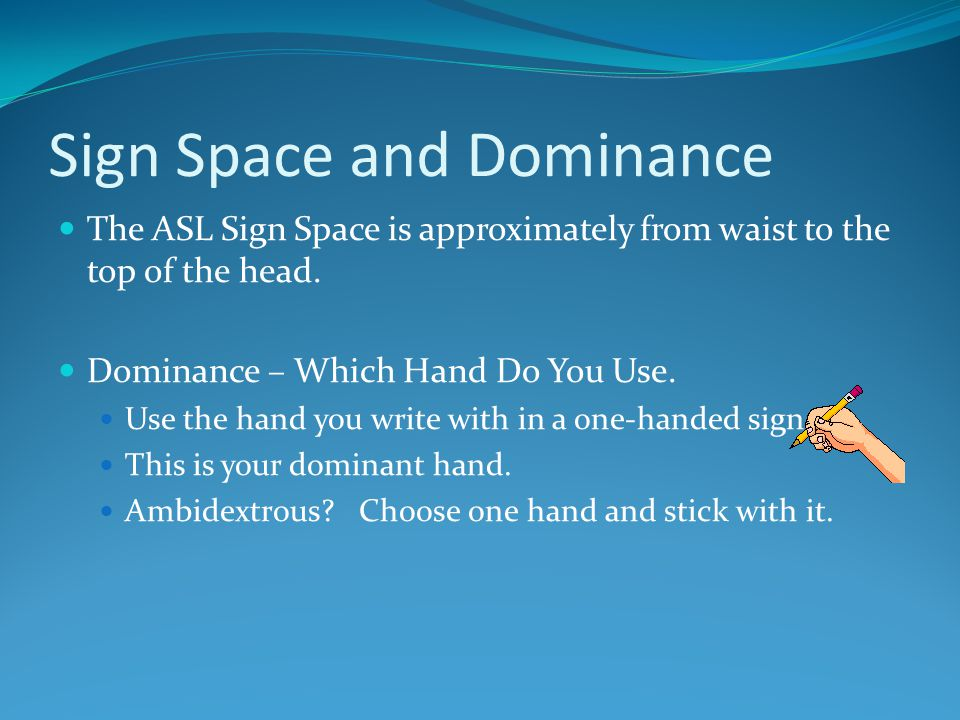 Sign Space and Dominance