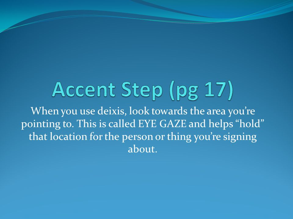 Accent Step (pg 17)