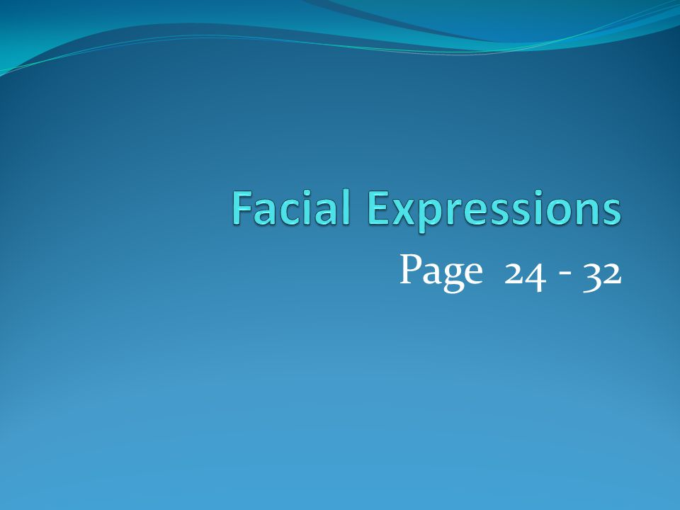 Facial Expressions Page