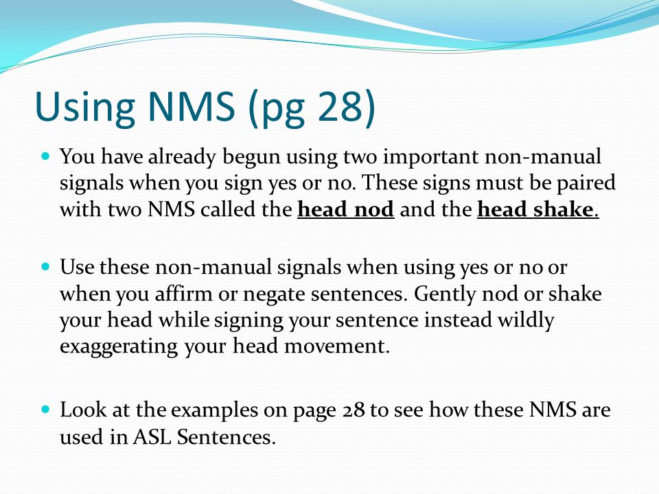 Using NMS (pg 28)