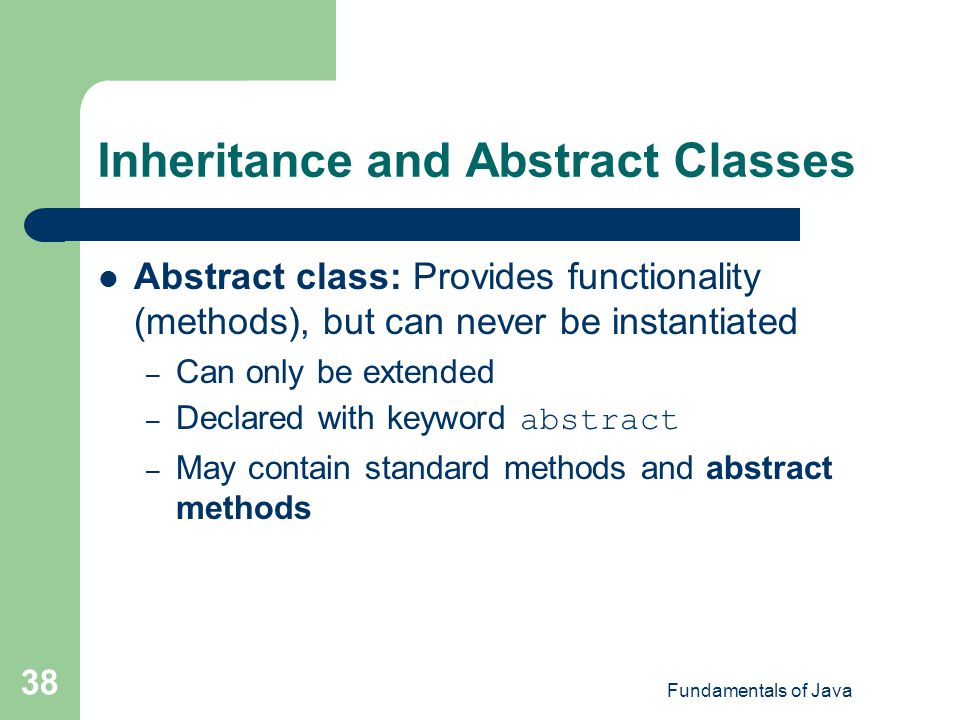 Inheritance and Abstract Classes