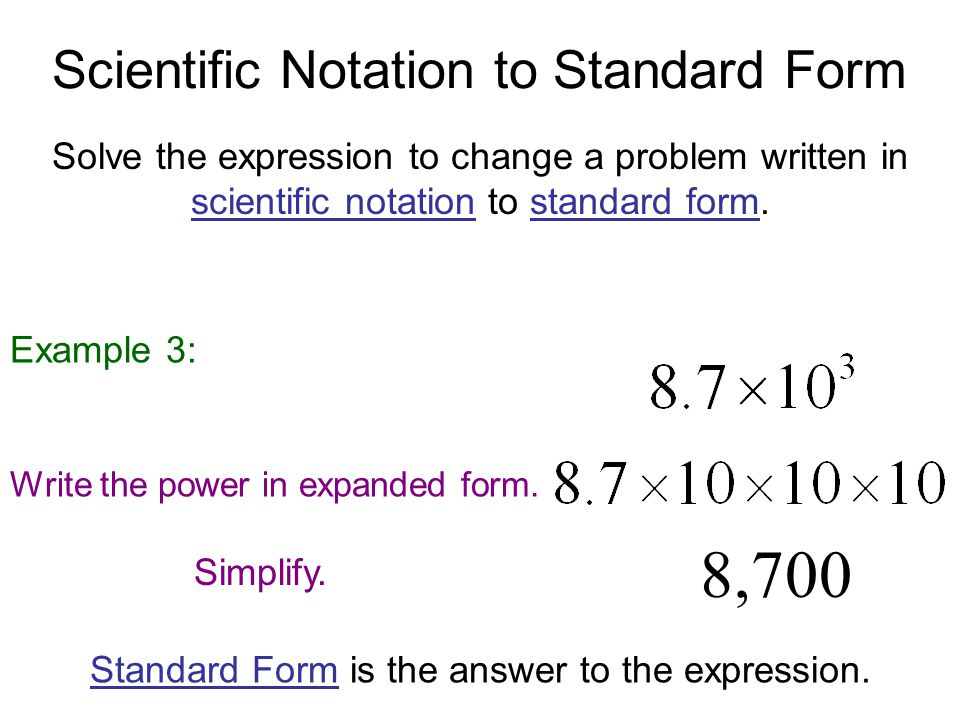 Scientific Notation Scientific Notation Is A Compact Way Of Writing