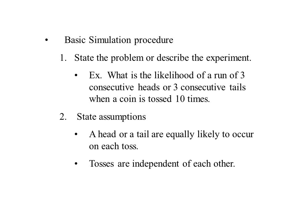 Basic Simulation procedure