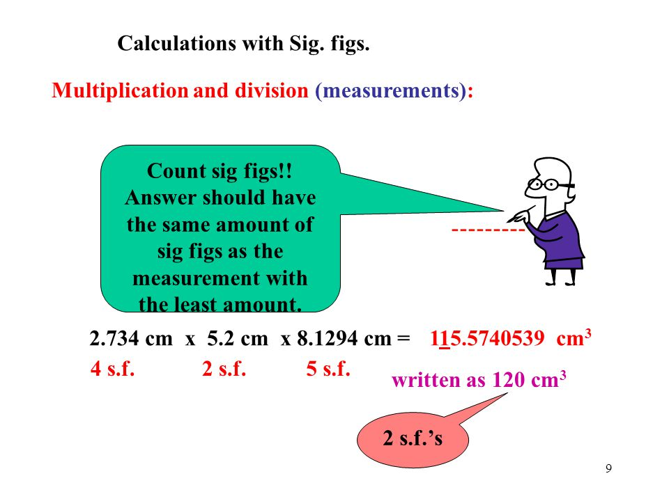 Calculations with Sig. figs.