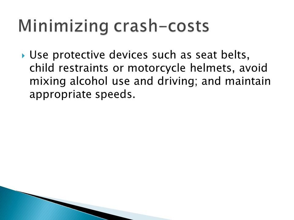 Minimizing crash-costs