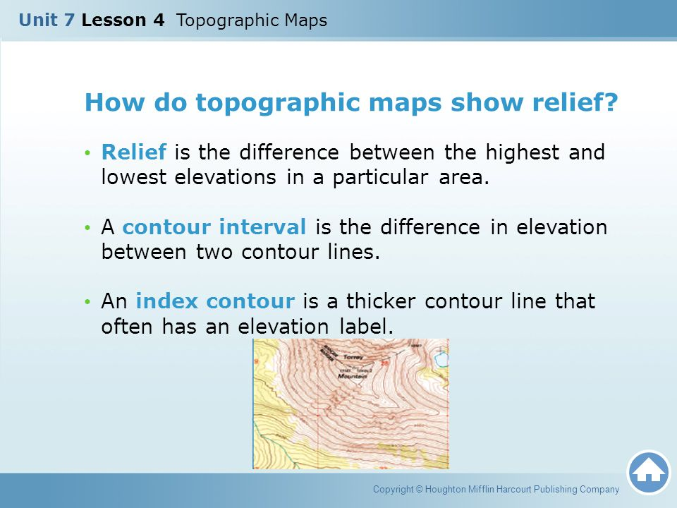 What Do Topographic Maps Show Unit 7 Lesson 4 Topographic Maps   ppt video online download