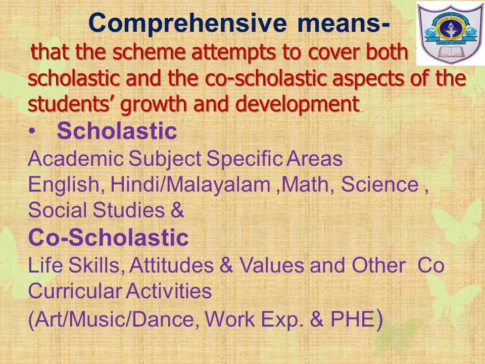 CONTINUOUS AND COMPREHENSIVE EVALUATION - ppt download