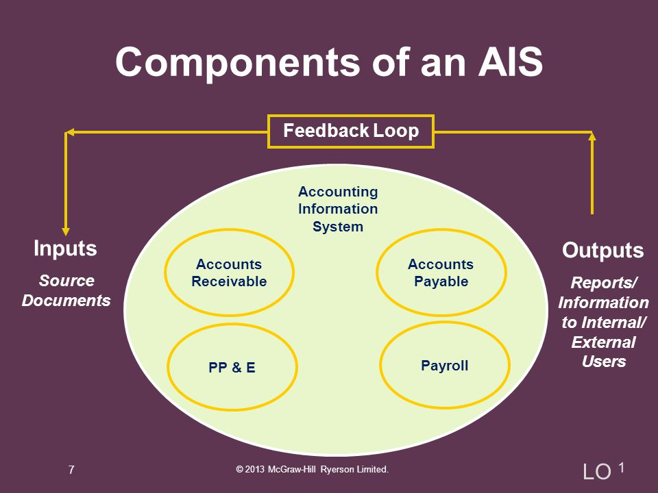 Components of an AIS Inputs Outputs LO 1 Feedback Loop
