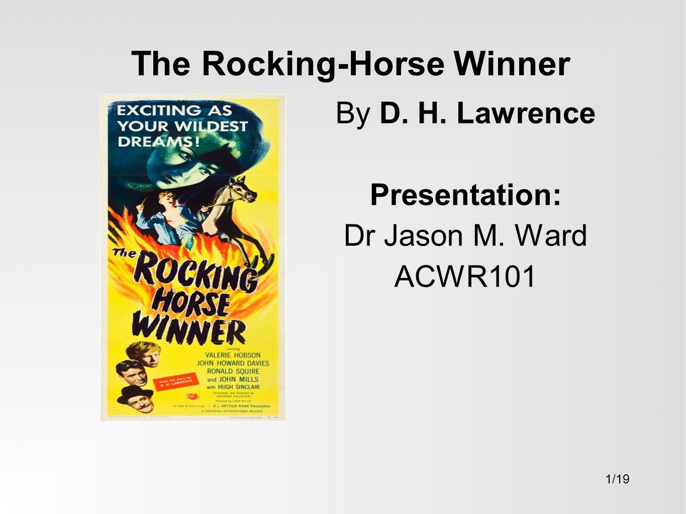 the rocking horse winner analysis sparknotes