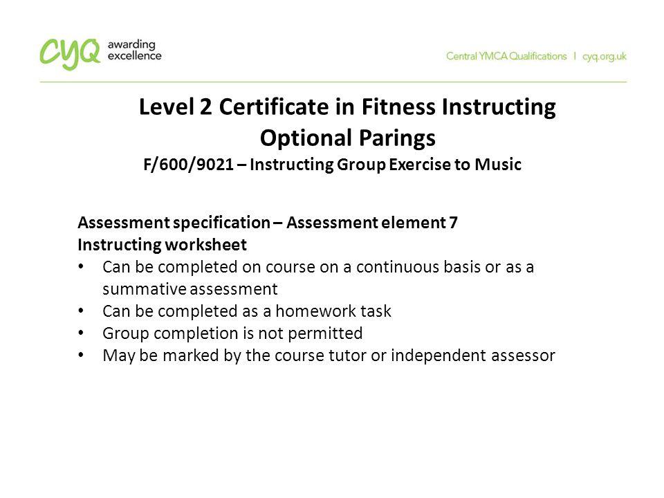 Level 2 Fitness Instructor Worksheet Answers - Kidz Activities