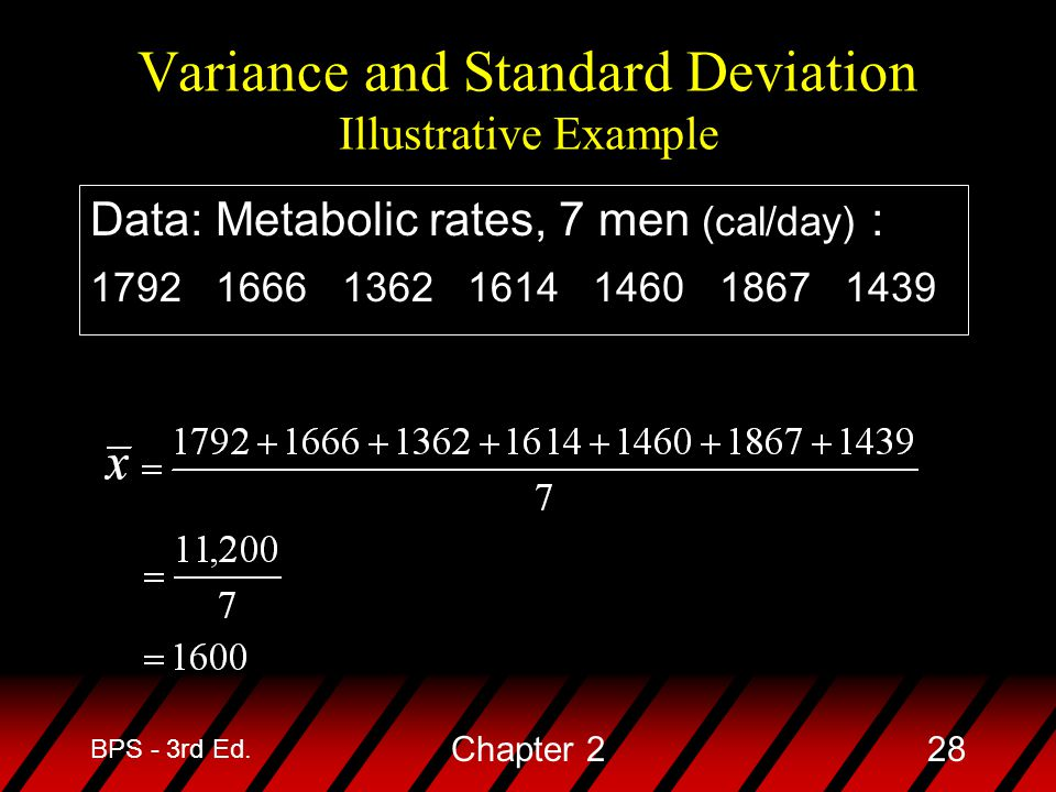 Variance and Standard Deviation Illustrative Example