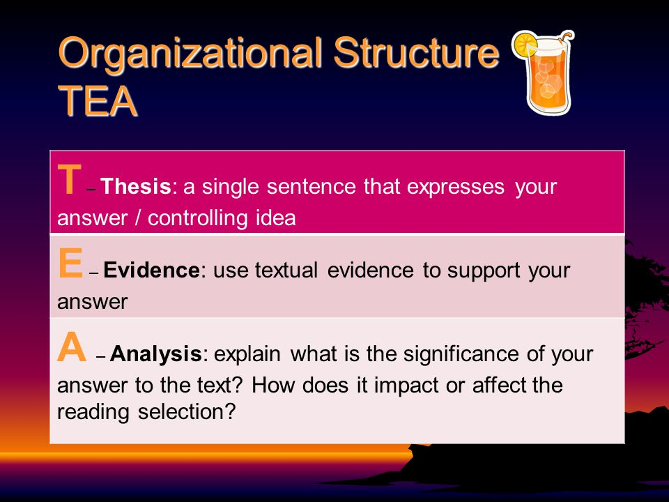 Organizational Structure TEA