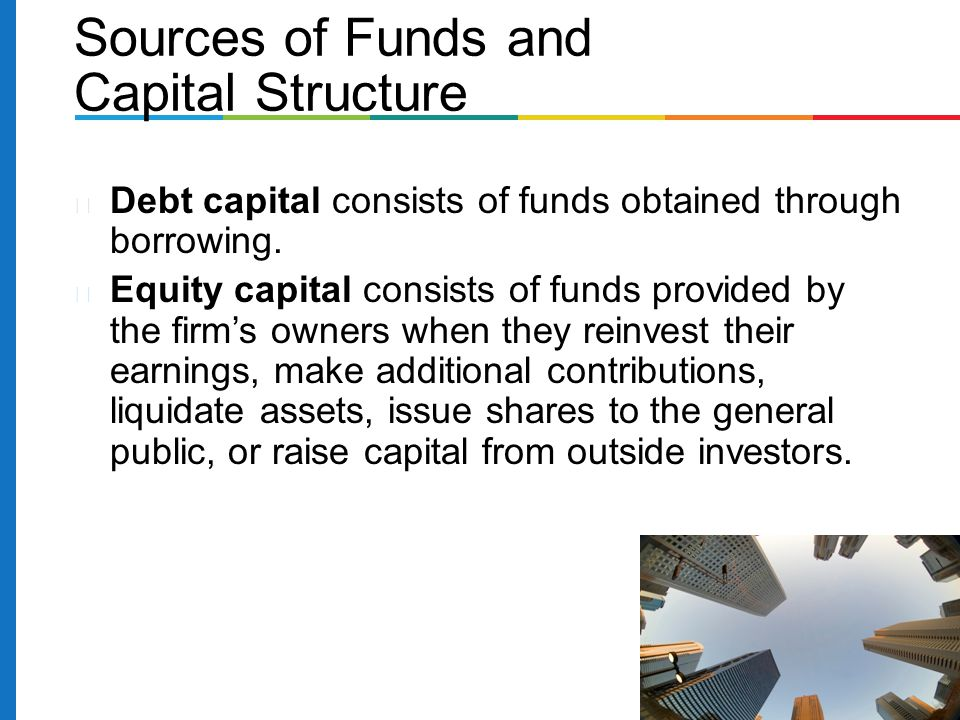 Sources of Funds and Capital Structure